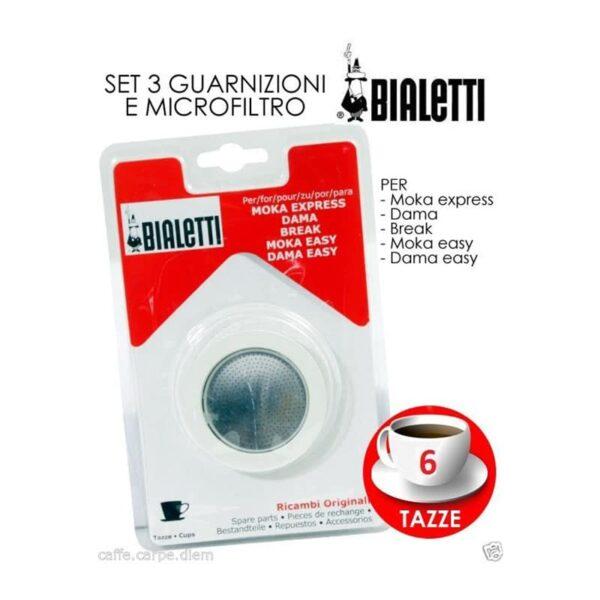 BIALETTI - Ricambi 3 Guarnizioni 1 Piastrina Moka 6 Tazze