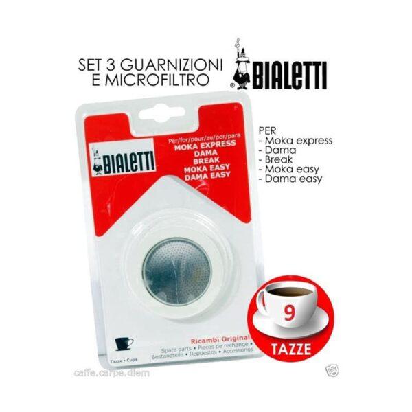 BIALETTI - Ricambi 3 Guarnizioni 1 Piastrina Moka 9 Tazze