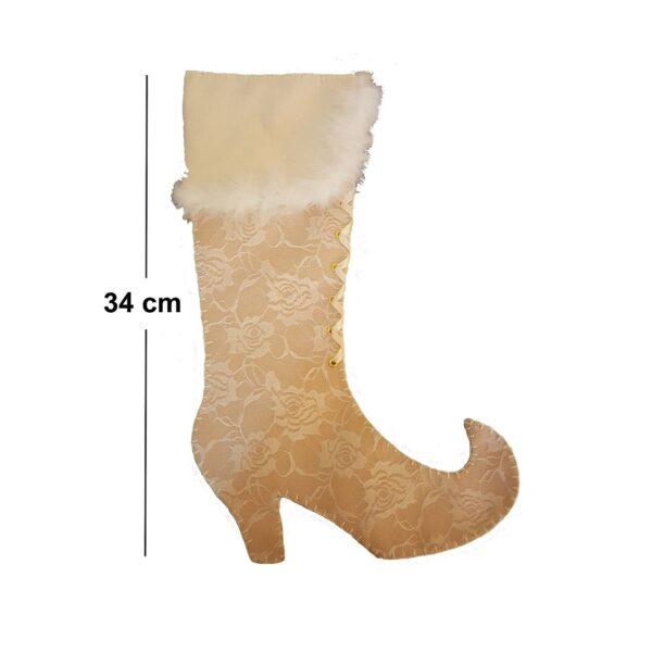 Calza VUOTA pupazzo cane 40 cm Befana Epifania calze hempty stocking Epiphany